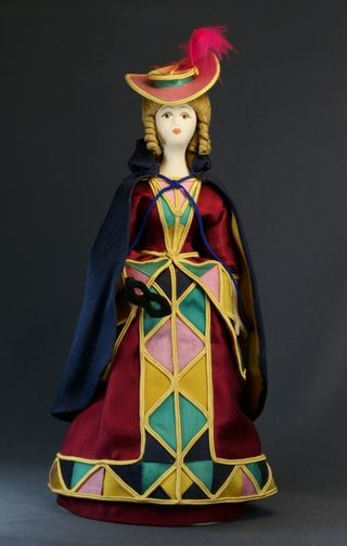 Doll gift porcelain. The lady in theatrical costume.