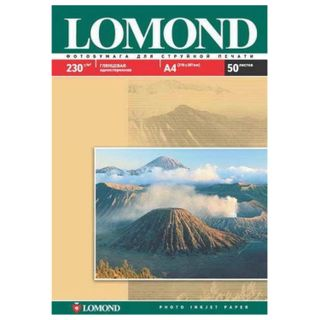 Photo paper for inkjet printing LARGE FORMAT, A3, 230 g/m2, 50 sheets, single-sided glossy LOMOND