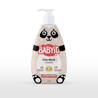 BABYiD Baby sulfates-free gel-soap with panthenol for every day use for children from birth, 300 ml.