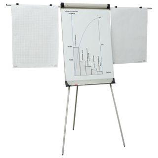 Whiteboard-flipchart magnetic marker (70x100 cm), tripod, holders for paper,