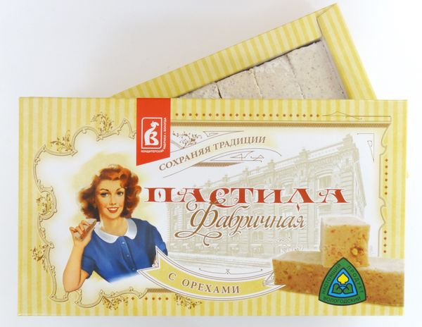 Pastila factory with nuts 255 g.