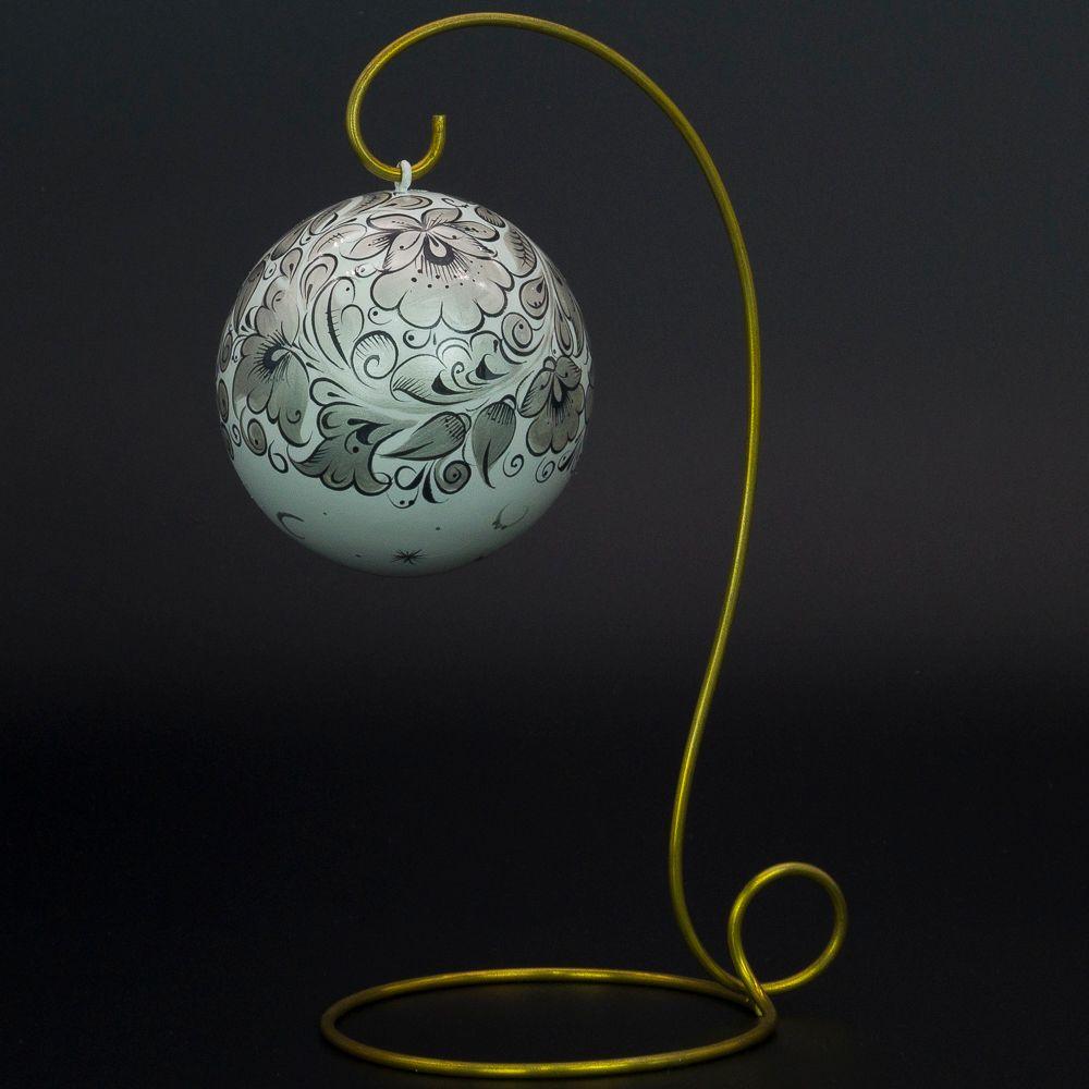 Fishing / Christmas tree wooden ball, 80 mm