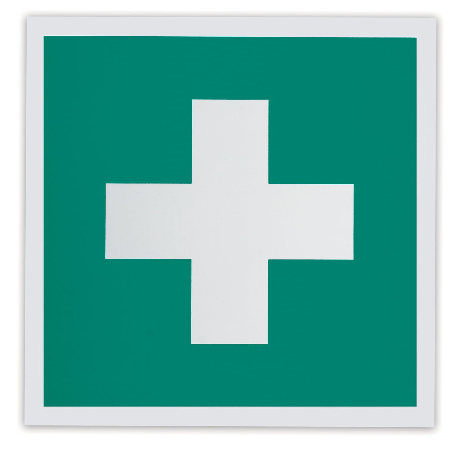 """Sign """"First aid kit"""", 200x200 mm, self-adhesive, photoluminescent"""