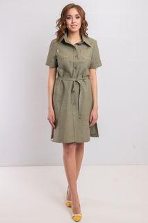 "Dress from flax style ""Safari"". 407"