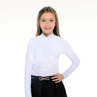 Blouse for girls white