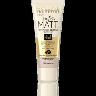 Mattifying cream Foundation No. 105-porcelain satin matt series, Eveline, 30 ml