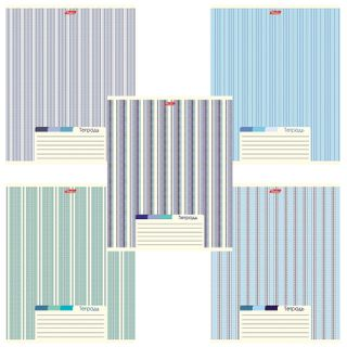 Notebook A5, 48 sheets, HATBER, staple, line, cover cardboard,