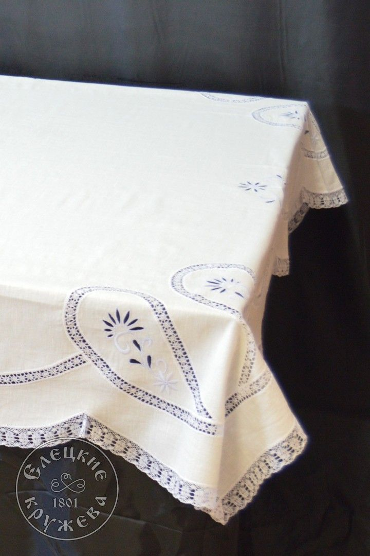 "Yelets lace / Table set ""Tablecloth and napkins"" С1281"