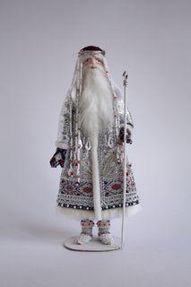 Porcelain souvenir doll. Frosty. Fairytale character.