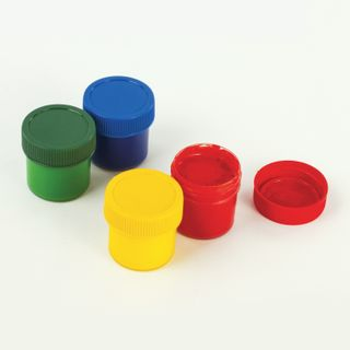 Finger paints INLANDIA SAFARI 4 colors in 35 ml jars, top QUALITY