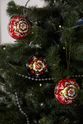Christmas set, 3 Christmas balls, music box, Khokhloma painting - view 4