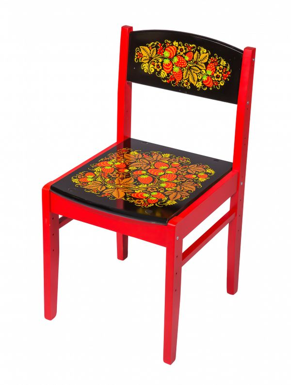 Adjustable chair for children Baby with Khokhloma painting