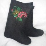 Boots with embroidery  Red currant (MB)