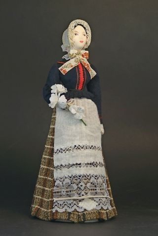The women's costume of the Late 19th century. Krakow. Poland. Doll gift