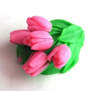 Handmade soap Bouquet of tulips