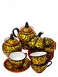 Tea service with Khokhloma painting, 14 items - view 1