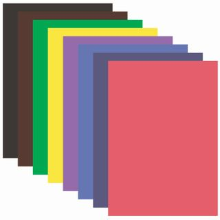 Coloured paper, A4, offset, 16 sheets 8 colors, on a bracket, INLANDIA, 200х280 mm, ASSORTED