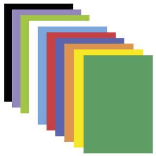 A colored porous rubber (tamaran), A4, 2 mm, TREASURE ISLAND, 10 sheets, 10 colors, rainbow