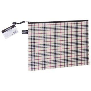 Folder-zipper envelope A4 (335х243 mm), fabric in a cage, BRAUBERG