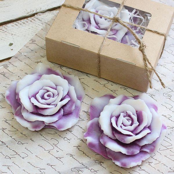 Handmade soap rose color mix