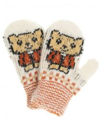 Children's mittens 'Bear' for a child 2-3 years