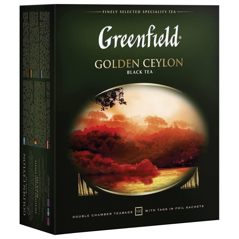 """GREENFIELD / Tea """"Golden Ceylon"""" black, 100 sachets in envelopes of 2 g"""