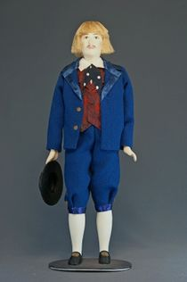 Doll gift porcelain. Latvia. Men's traditional costume. Late 19th - early 20th century.