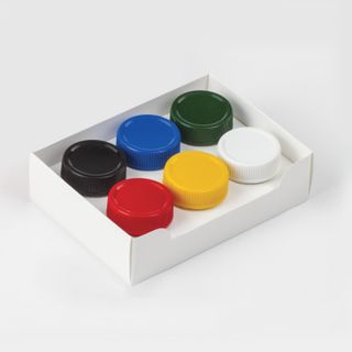 Gouache PYTHAGORAS, 6 colors in 20 ml, without a brush, carton packaging