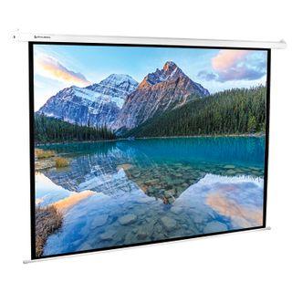 Projection wall screen (180x240 cm), matte, power, 4:3, BRAUBERG MOTO