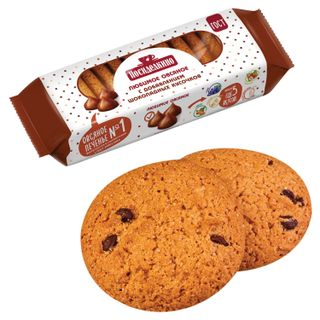 POSIDELKINO / Oatmeal cookies with chocolate pieces, 310 g