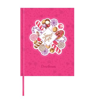 Diary 1-11 class 48 sheets, cover leather solid, applique, BRAUBERG,