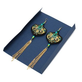 "Earrings ""Malachite Tale"""