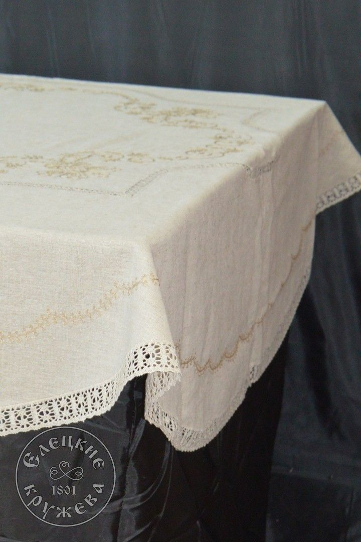 "Elets lace / Table set ""Tablecloth and napkins"" С1124"