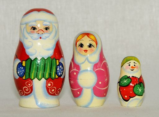 Vyatka souvenir / Painted souvenir 'Santa Claus', 3 ave.