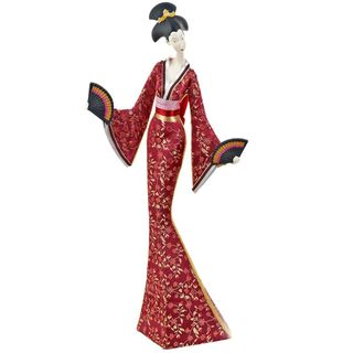 """Porcelain figurine """"Japanese woman with fans"""""""