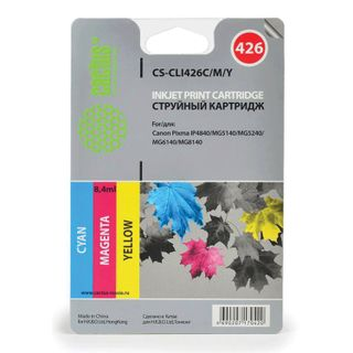 Inkjet cartridge CACTUS (CS-CLI426C / M / Y) for CANON Pixma MG5140 / 5240, multicolor, set