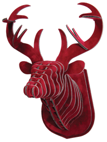 3D figure – Head of KVK deer Velvet Bordeaux VIP