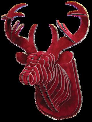 3D figure – Head of KVK deer Velvet Bordeaux VIP
