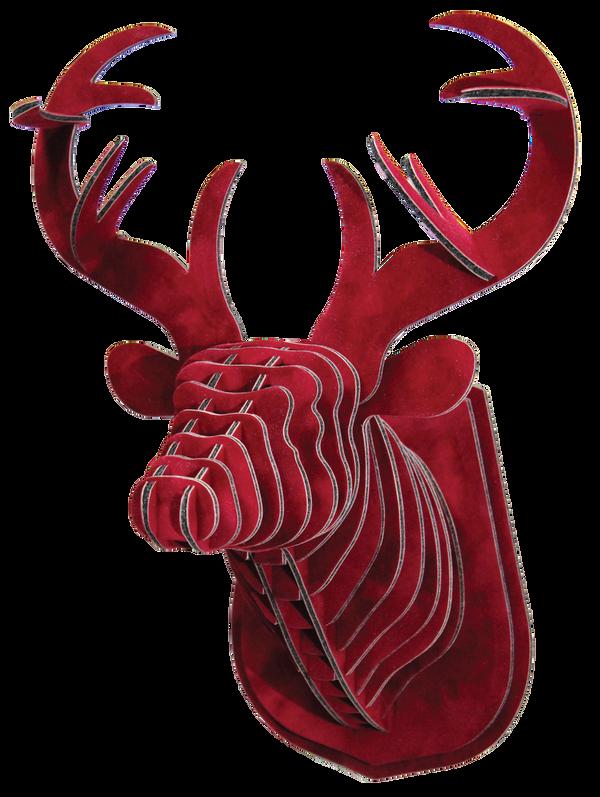 3D figure - The head of the KVK Velvet Bordeaux deer. VIP