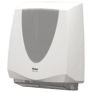 "VEIRO Prof / Dispenser for sheet towels (H2 / H3) ""Prima"", V / Z / W-fold, white"