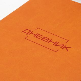 BRAUBERG / Diary LATTE 1-11 grade 48 sheets, leatherette cover (light), thermal embossing, orange