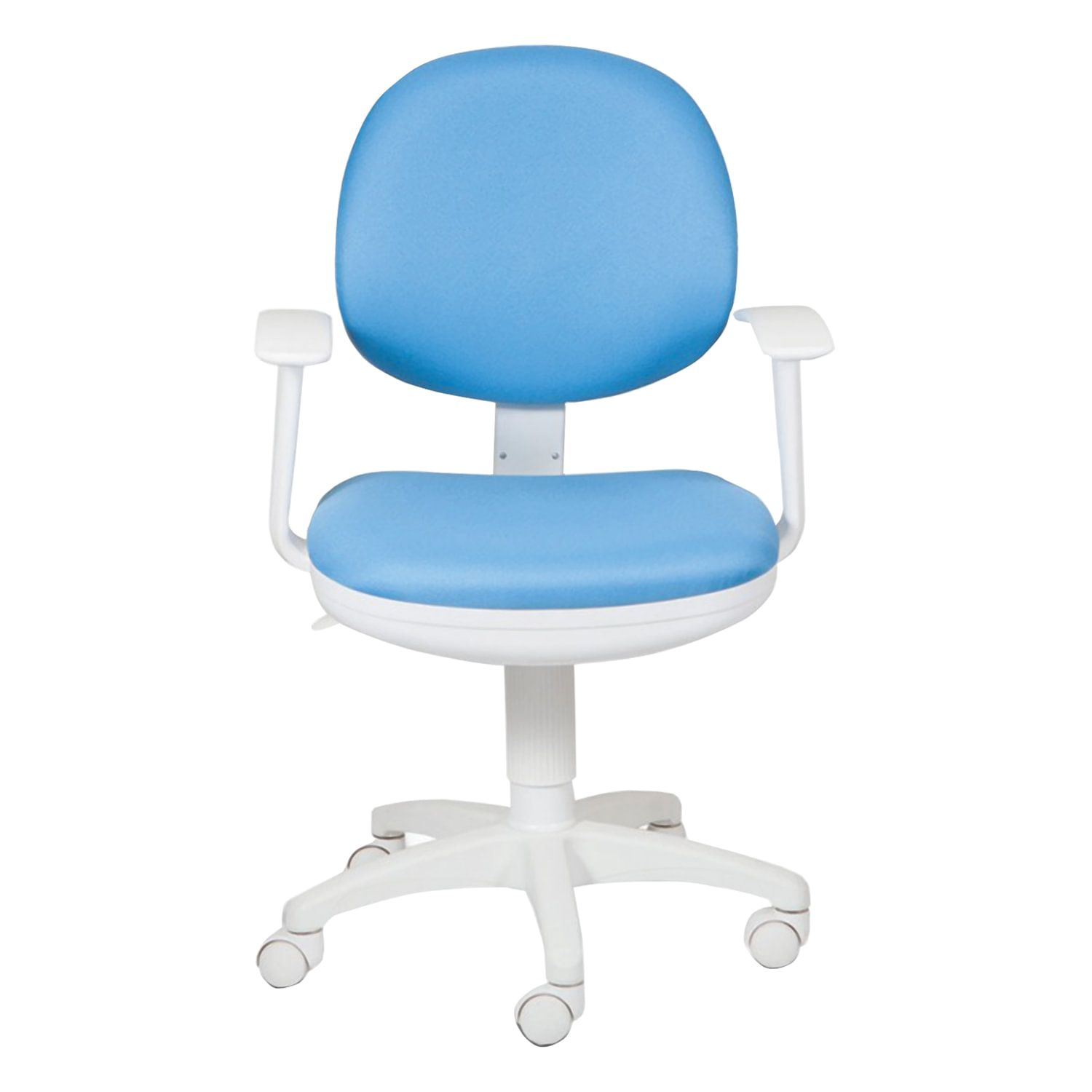 Chair CH-W356AXSN with armrests, blue, plastic white