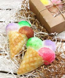 Handmade soap Berry ice cream - mix of colors