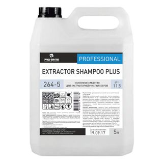 5 litre carpet extractor cleaning, PRO-BRITE EXTRACTOR SHAMPOO PLUS, concentrate