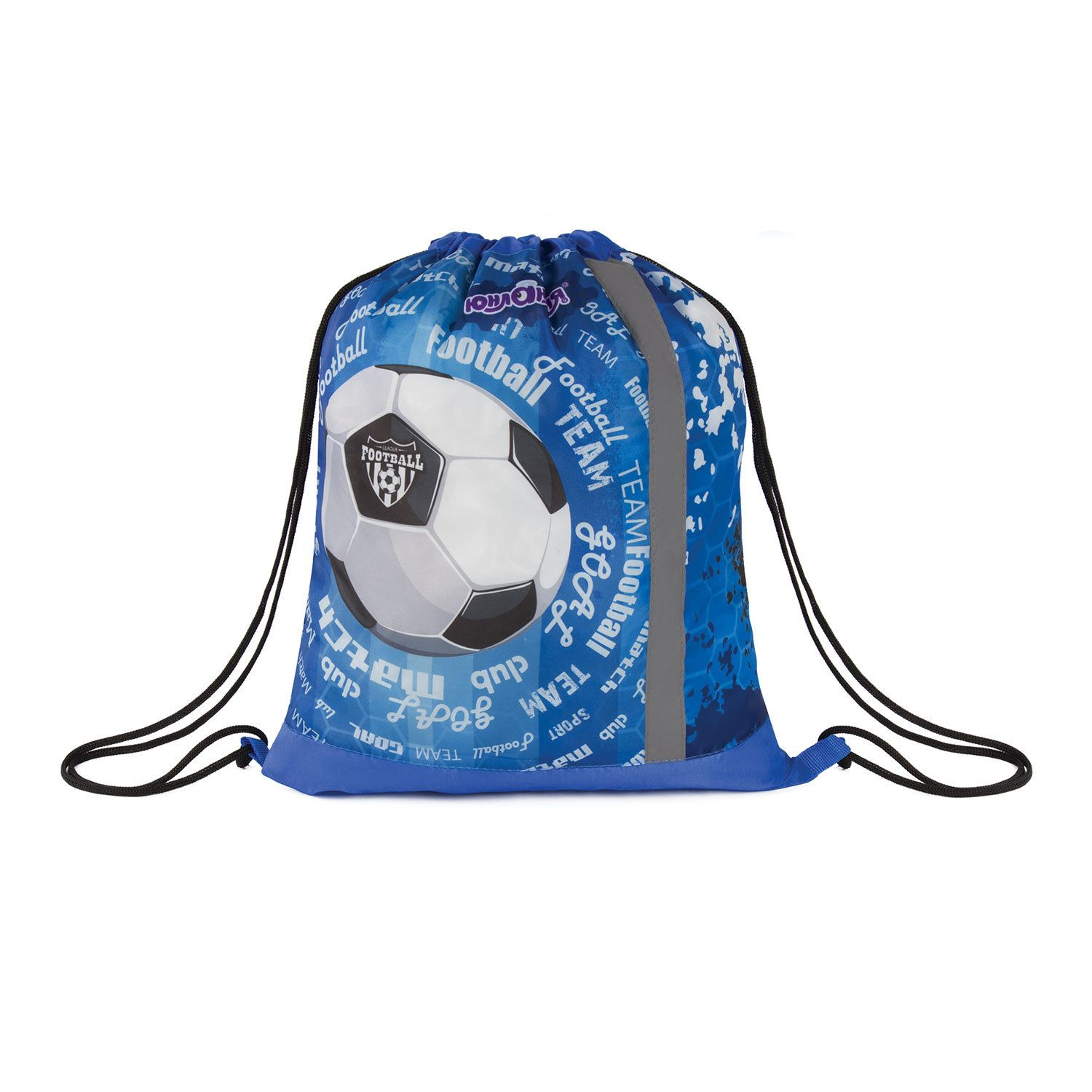 """Bag for shoes INLANDIA, 1 compartment, reflective strip, with the mesh 46 * 36 cm, """"Football"""""""