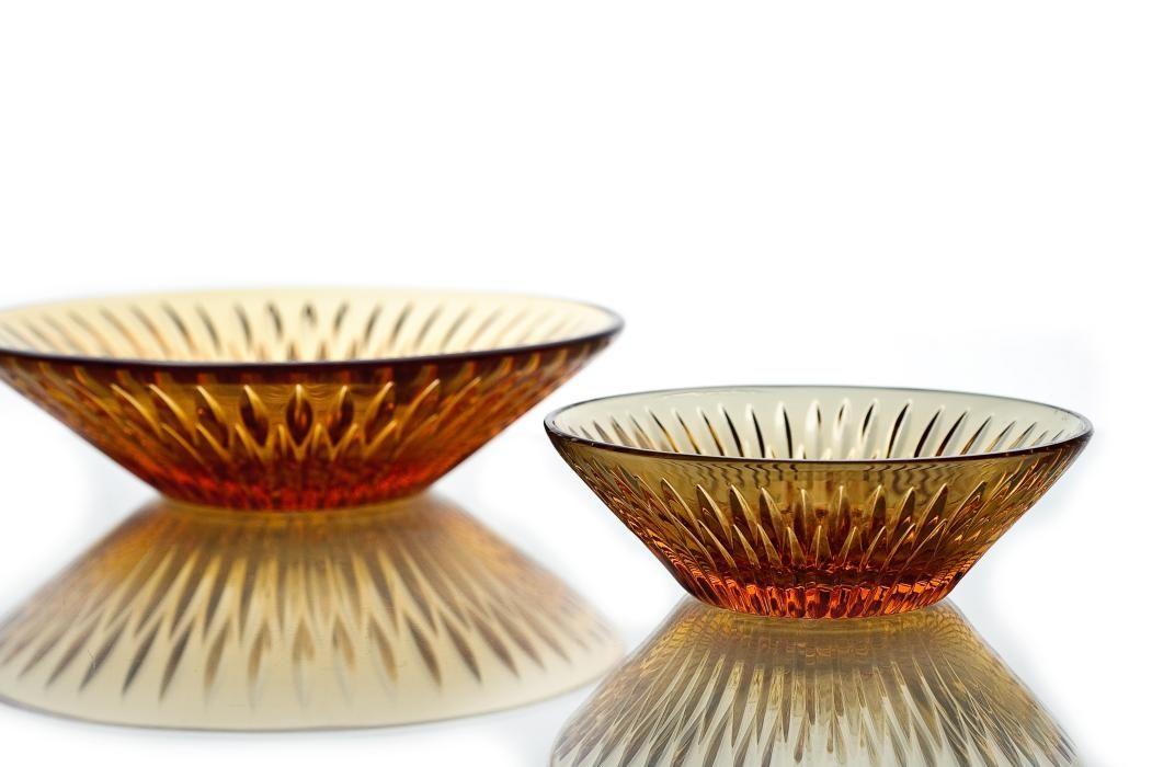 """Crystal vase for jam """"Carmen"""" amber"""