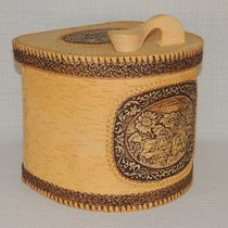 "Box of birch bark ""Rustic"", ""Cedar"""