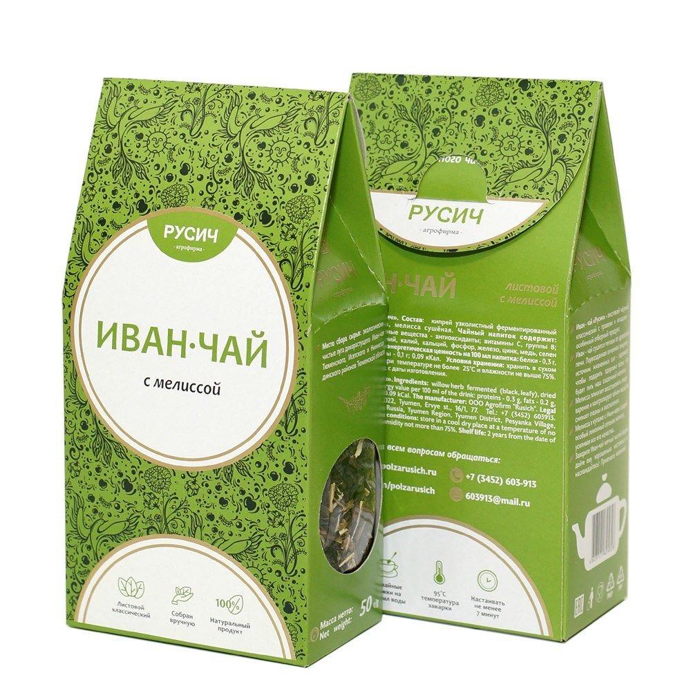 "Ivan-tea ""RUSICH"", leaf with lemon balm, 50 g"