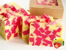 Strawberry-Lemon - handmade fragrant soap