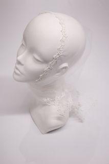 "Scarf ""Fleur"" white"